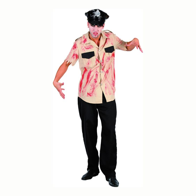 Bild på Blodig Polis Maskeraddräkt - One size