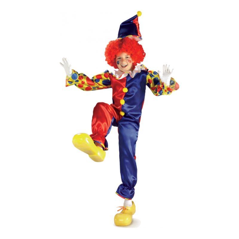 Bild på Bubbles the Clown Barn Maskeraddräkt - Small