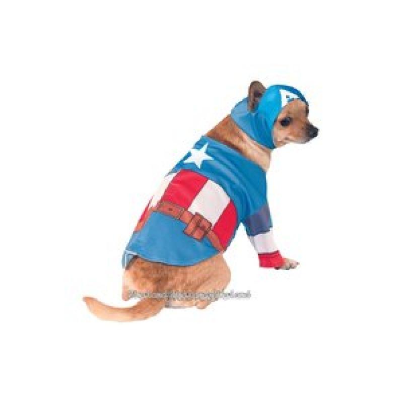 Bild på Captain America hundmaskerad