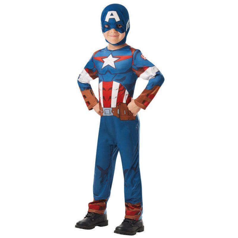 Bild på Captain America Maskeraddräkt Barn Medium