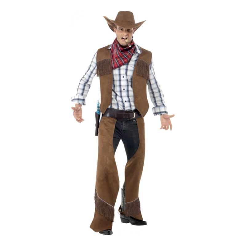 Bild på Cowboy Brun Maskeraddräkt - One size
