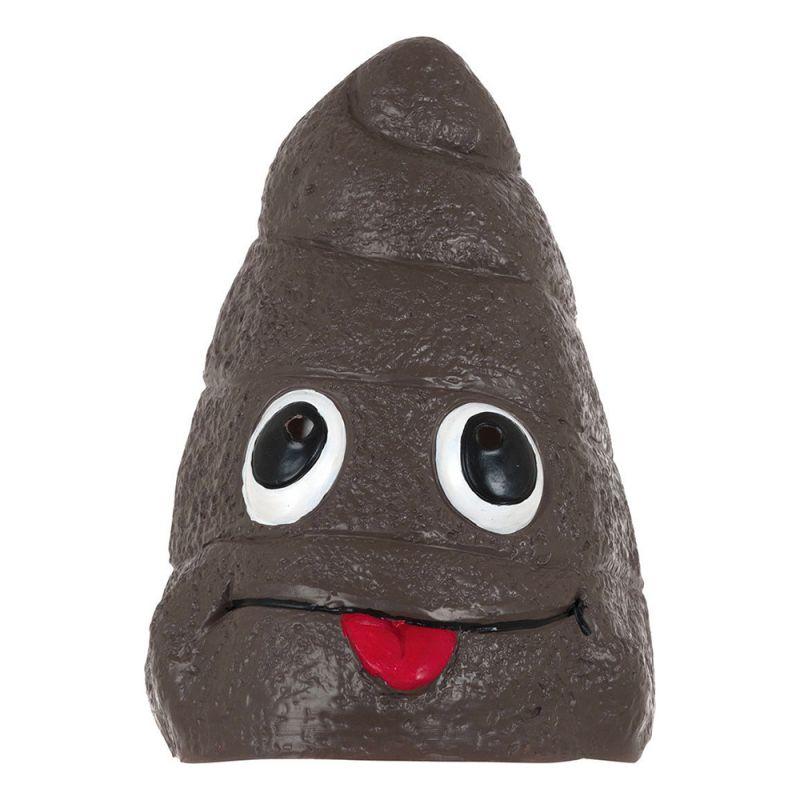 Bild på Emoji Poo Latexmask - One size