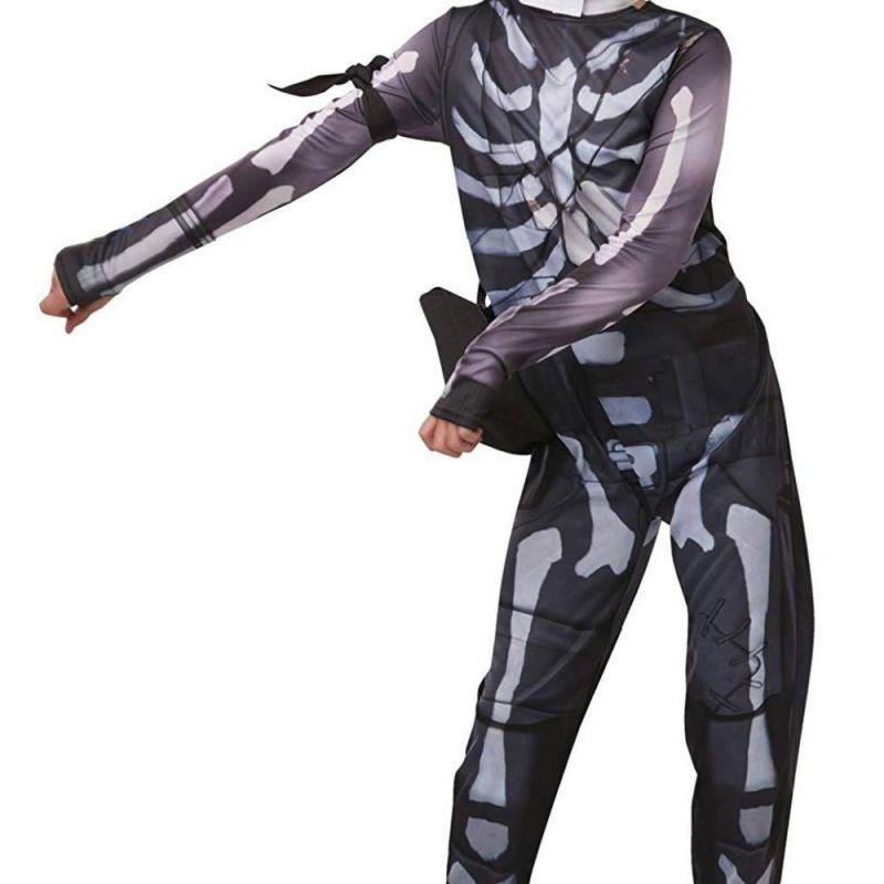 Bild på Fortnite Skull Trooper, Maskeraddräkt Barn - Small