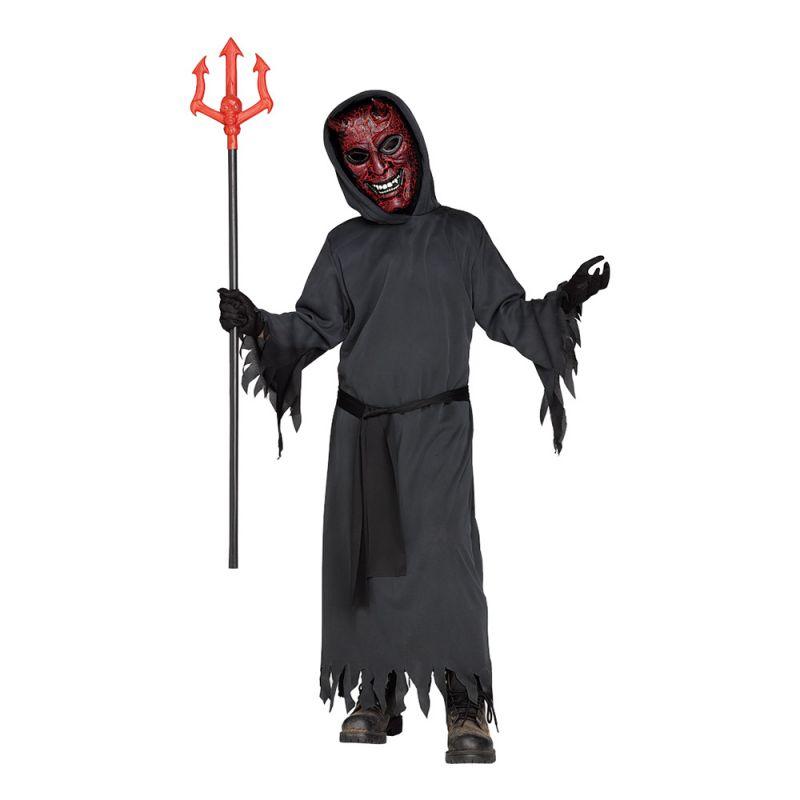 Bild på Glödande Djävul Barn Maskeraddräkt - Large