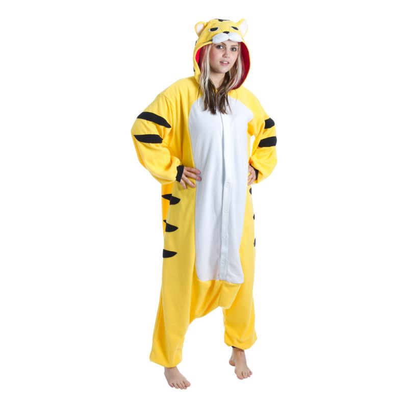 Bild på Gul Tiger Kigurumi - Medium