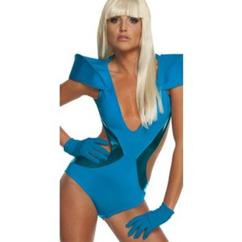 Bild på Handskar Lady Gaga blå