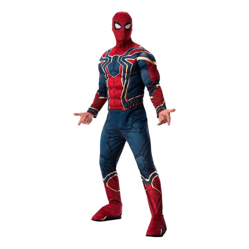 Bild på Iron Spiderman Deluxe Maskeraddräkt - Standard