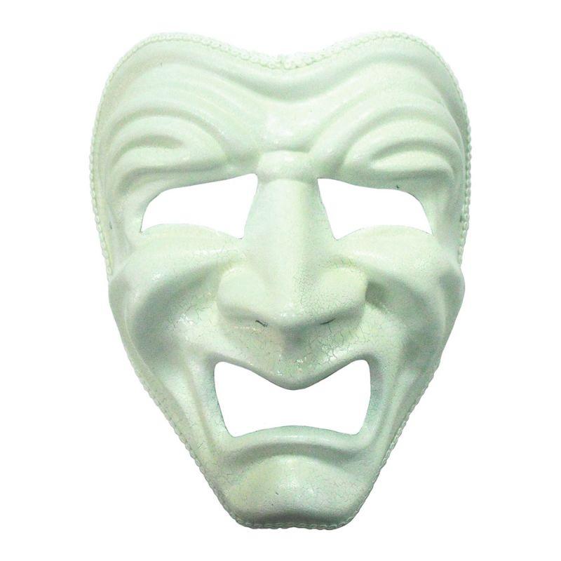 Bild på Ledsen Vit Teatermask - One size
