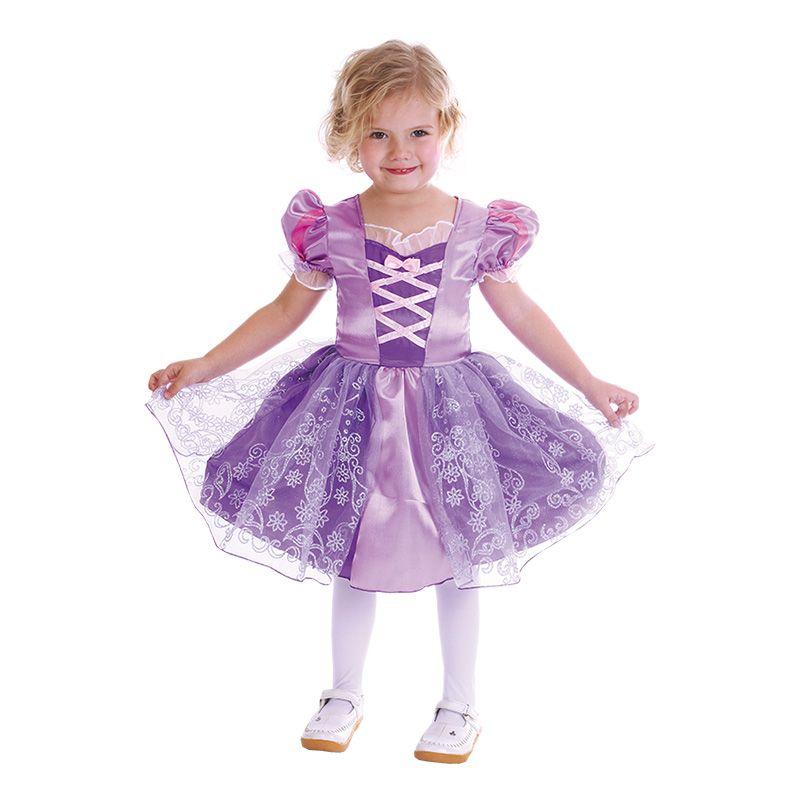 Bild på Lila Prinsessa Barn Maskeraddräkt - Small