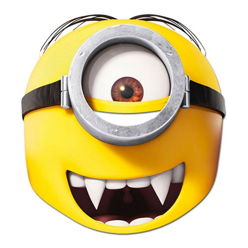 Bild på Minions Gone Batty Pappmask - One size