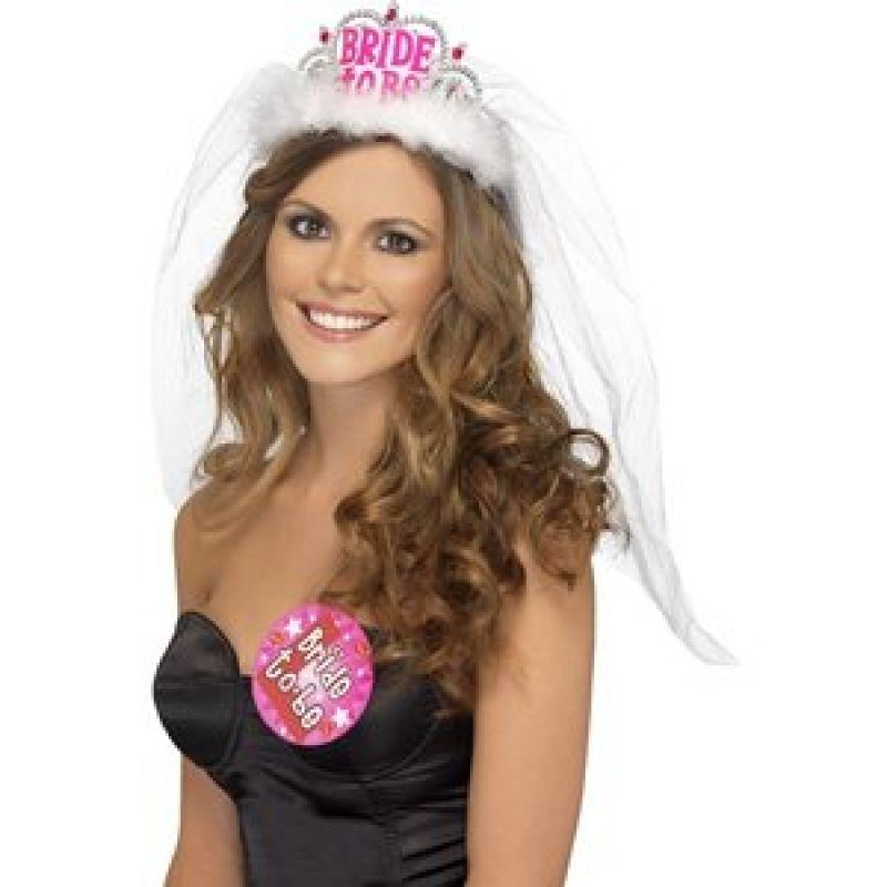 Bild på Möhippa tiara Bride To Be - vit