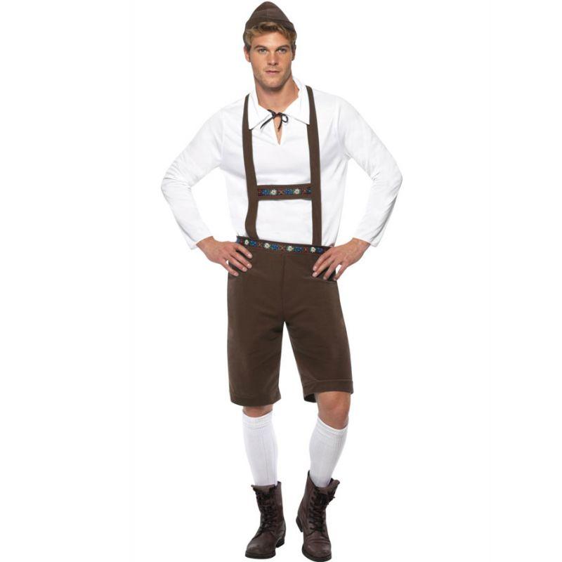 Bild på Oktoberfest Lederhosen Dräkt Brun (Medium)