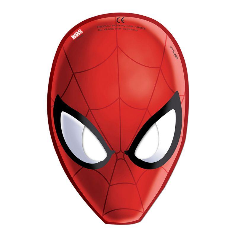 Bild på Pappmasker Spiderman - 6-pack