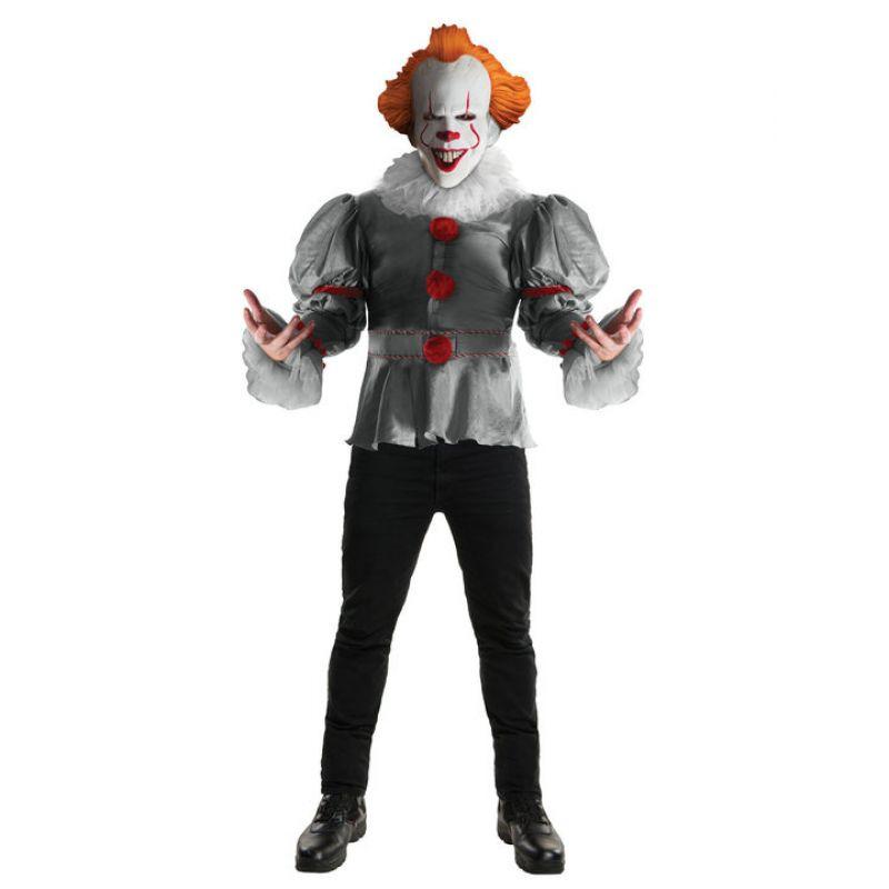 Bild på Pennywise Clown Deluxe Maskeraddräkt Wlarge