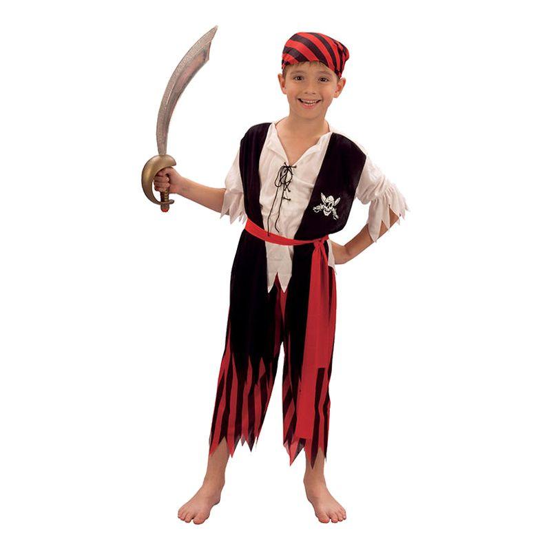 Bild på Piratpojke Barn Maskeraddräkt - Small