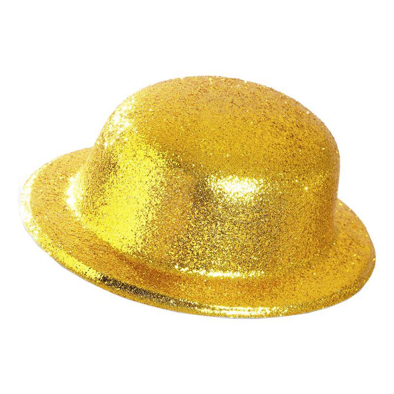 Bild på Plommonstop Glitter Guld Hatt - One size
