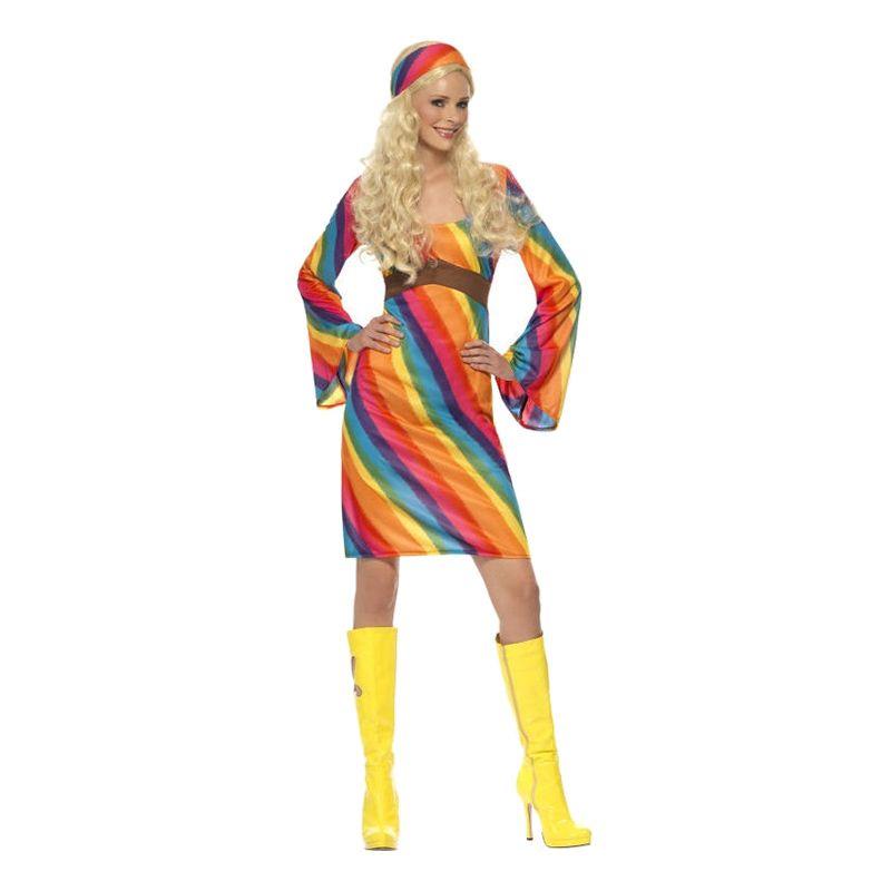 Bild på Regnbågs Hippie Maskeraddräkt - Small