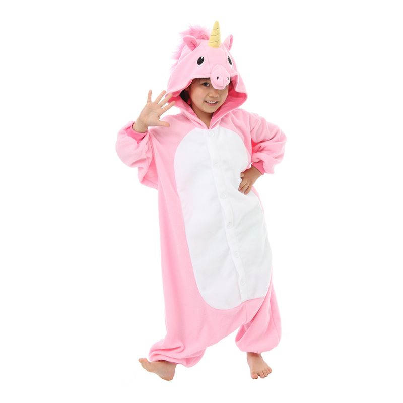 Bild på Rosa Enhörning Barn Kigurumi - Medium