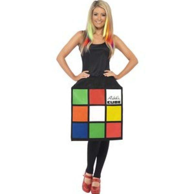 Bild på Rubiks kub klänning maskeraddräkt