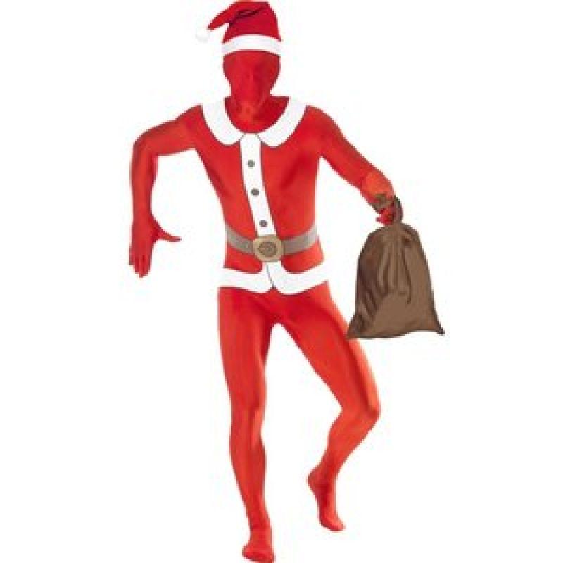 Bild på Second skin-dräkt, jultomte maskeraddräkt