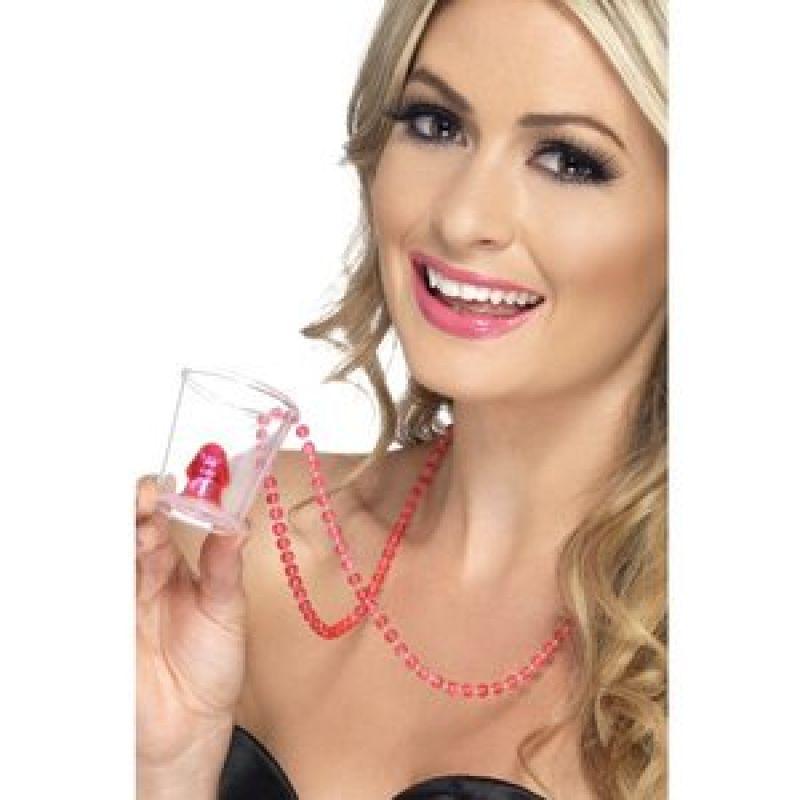 Bild på Shotglas i halsband med snopp