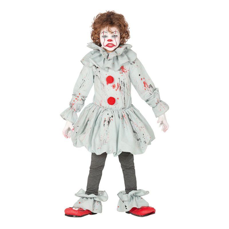 Bild på Skräckclown Barn Maskeraddräkt - Small