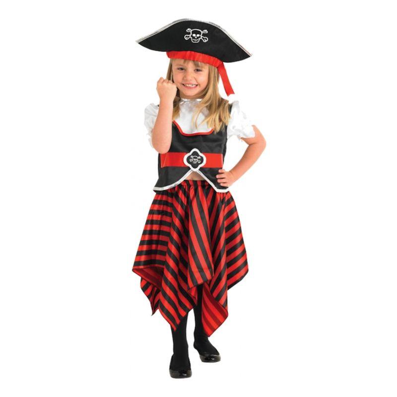 Bild på Söt Piratflicka Barn Maskeraddräkt - Small