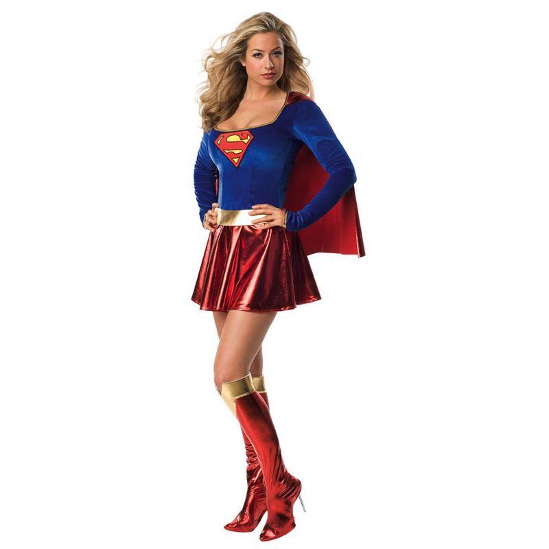 Bild på Söt Supergirl Maskeraddräkt (X-Small (Str. 32-34))