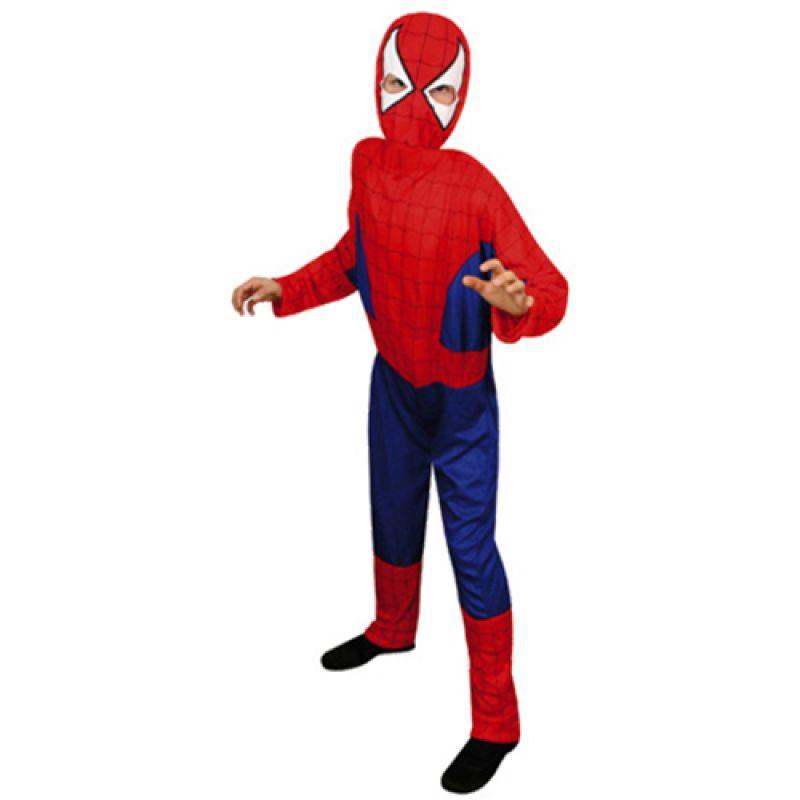 Bild på Spindelmannen, Maskeraddräkt Barn - Large (134-146)