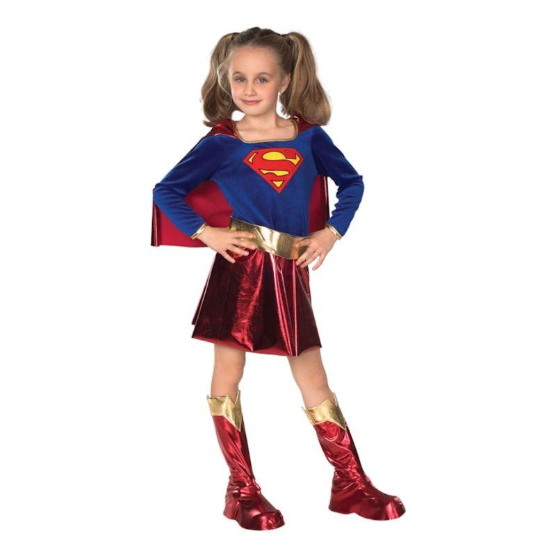 Bild på Supergirl Deluxe Barn Maskeraddräkt - Small