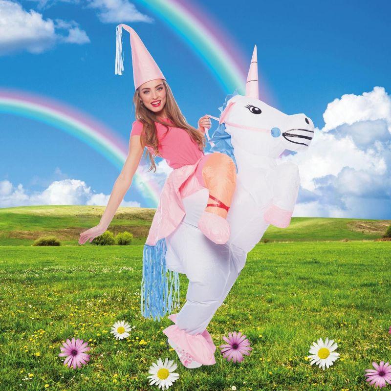 Bild på Unicorn, Uppblåsbar Maskeraddräkt