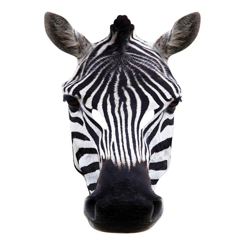 Bild på Zebra Pappmask