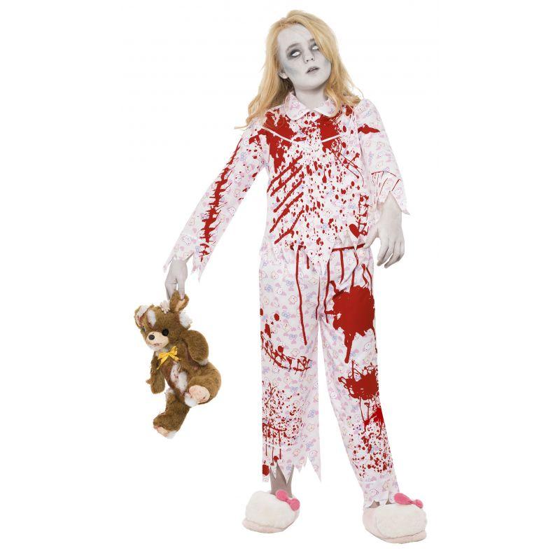 Bild på Zombieflicka I Pyjamas Maskeraddräkt Barn