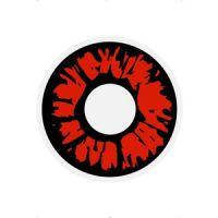 Bild på 1 -dags explosions röda kontaktlinser