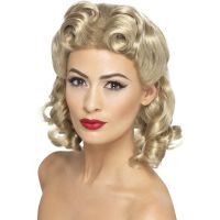 Bild på 40-tals Lockig Blond Peruk