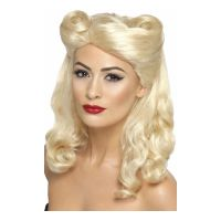 Bild på 40-tals Pin-Up Blond Peruk - One size