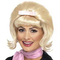 Bild på 50-tals Blond Peruk med Rosett