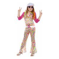 Bild på 60-tals Hippieflicka Barn Maskeraddräkt - Medium