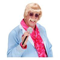 Bild på 60-tals Musiker Blond Peruk med Mustasch - One size