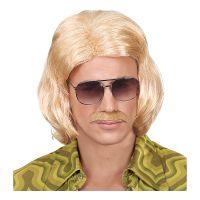 Bild på 70-tals Dandy Blond Perukset med Mustasch