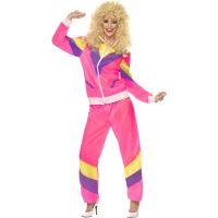 Bild på 80-talets högsta mode: Rosa träningsoverall