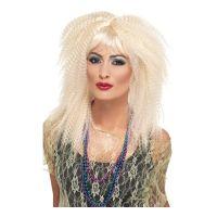 Bild på 80-tals Blond Krusad Peruk - One size