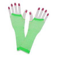 Bild på 80-tals Fingerlösa Näthandskar - Neongrön