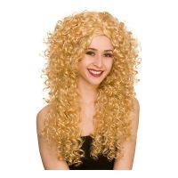 Bild på 80-tals Lång Lockig Blond Peruk - One size