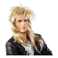 Bild på 80-tals Rockare Blond Peruk - One size