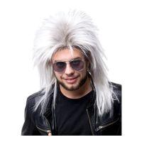 Bild på 80-tals Rockare Vit Peruk - One size