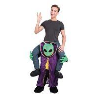 Bild på Alien Piggyback Lila Maskeraddräkt - One size