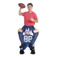 Bild på Amerikansk Fotbollsspelare Piggyback Maskeraddräkt - One size
