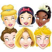 Bild på Ansiktsmasker Disney prinsessor - 6 st