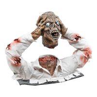 Bild på Avhugget Zombiehuvud med Torso Prop